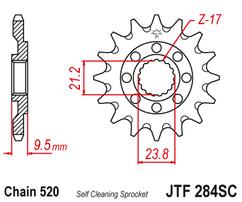Звезда ведущая самоочищающаяся 14 зубов CR250R / CRF450R-X JT