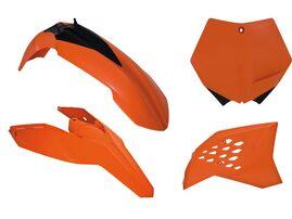 Комплект пластика оранжевый KTM SX/SX-F 125-505 07-10; EXC/EXC-F 125-530 08-11