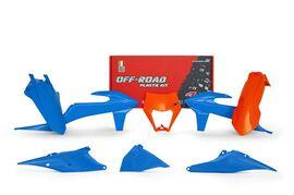 Комплект пластика оранжево-голубой KTM EXC/EXC-F 20-22