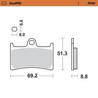 Колодки тормозные передние MOTO-MASTER