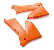 Боковины радиатора оранжевые комплект KTM SX 05-06 / EXC 05-07
