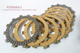 Комплект дисков сцепления фрикционных усиленных  Kawasaki KX250F 04-07, Suzuki RM 125 02-12 (=FCD0378) Ferodo