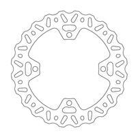 Диск тормозной задний Nitro Suzuki RM-Z250 07-20 / RM-Z450 05-20 / RMX450Z 10-17 MOTO-MASTER 110358