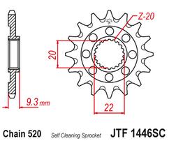 Звезда ведущая самоочищающаяся 14 зубов Kawasaki KX250F 06-20 JT