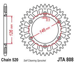 Звезда ведомая алюминиевая 49 зубов Suzuki RM/RM-Z JT
