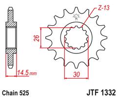 Звезда ведущая JTF1332 15