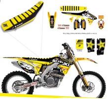 Полный набор наклеек с обтяжкой сидения Suzuki RM-Z250 10-16