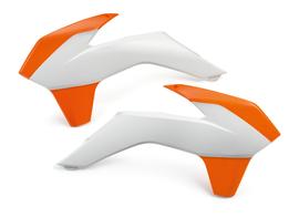 Боковины радиатора бело-оранжевые KTM SX/SX-F 14-15 / 250SX, EXC/EXC-F 14-16