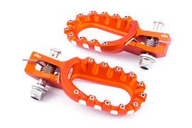 Подножки алюминиевые высокие оранжевые S3 Hard Rock KTM / Husqvarna 17-21