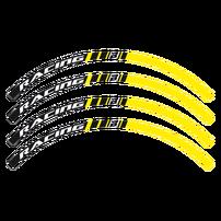 Наклейки на обода черно-желтые Blackbird Racing