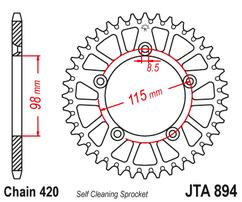 Звезда ведомая алюминиевая 50 зубов KTM 65SX JT