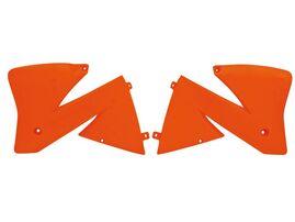 Боковины радиатора оранжевые KTM SX400-520 00 # EXC400-520 00-02 # EXC125-250 01-02