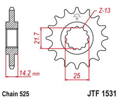 Звезда ведущая  JTF1531 15