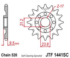 Звезда ведущая самоочищающаяся 14 зубов RM-Z450 05-12 / RMX450Z 10-19 JT