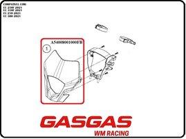 Пластик фары красный GasGas EC/EC-F 21-