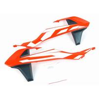 Боковины радиатора оранжевые с графикой KTM 50SX 2016