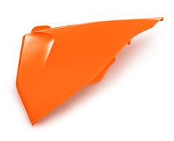 Крышка корпуса воздушного фильтра левая оранжевая KTM SX/SX-F 19-21 / EXC/EXC-F 20-21