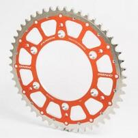 Звезда ведомая биметаллическая 47 зубов 420 SX65 98-20 оранжевая TMV, MINO