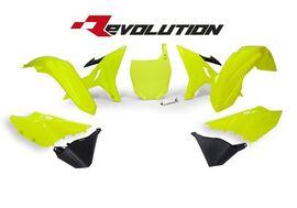 Комплект пластика YZ125-250 02-19 # WR/YZ-X250 16-19 Revolution неон желтый/черный