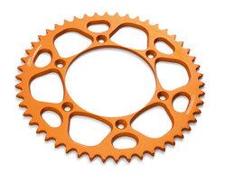 Звезда задняя алюминиева оранжевая 52 зуба KTM