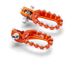 Подножки алюминиевые низкие оранжевые S3 Hard Rock KTM / Husqvarna 17-21