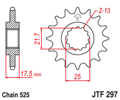 Звезда ведущая JTF297 16