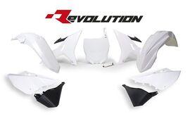 Комплект пластика YZ125-250 02-19 # WR-YZX250 16-19 Revolution бело-черный