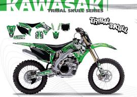 Полный набор наклеек с обтяжкой сиденья Kawasaki KX250F 09-11