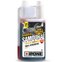 Масло для для двухтактных двигателей с ароматом клубники IPONE SAMOURAI RACING STRAWBERRY (1 л)