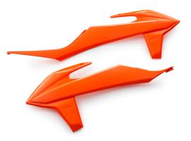 Боковины радиатора оранжевые KTM SX, SX-F 19-21 / EXC, EXC-F 20-21