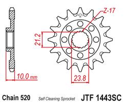 Звезда ведущая самоочищающаяся 13 зубов RM-Z450 13-19 JT