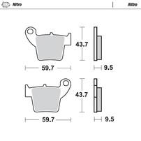Колодки тормозные задние Honda CR/CRF MOTO-MASTER 094321
