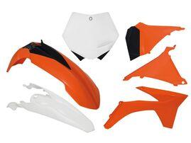 Комплект пластика оранжево-белый KTM SX 125-250 2011