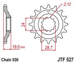 Звезда ведущая  JTF527 17