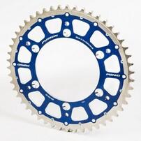 Звезда ведомая биметаллическая 49 зубов SX85 04-20 TE85 14-20 синяя TMV, MINO