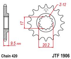 Звезда ведущая JTF1906 12