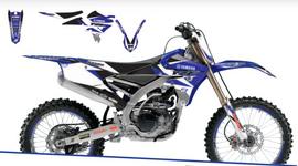 Полный набор наклеек с обтяжкой сидения Yamaha YZ250F 10-13