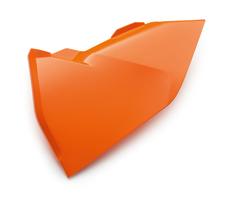 Крышка корпуса воздушного фильтра левая оранжевая KTM SX/SX-F 16-18 / EXC/EXC-F 17-19