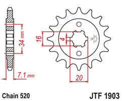 Звезда ведущая JTF1904 16