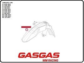 Крыло переднее с графикой GasGas MC/EC 2021