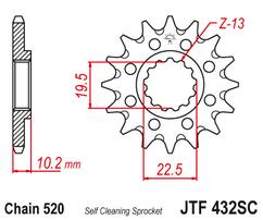 Звезда ведущая самоочищающаяся 14 зубов RM250 82-12 JT
