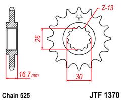 Звезда ведущая JTF1370 14