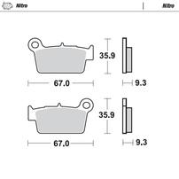 Колодки тормозные задние Yamaha/Kawasaki/Suzuki/Beta/GasGas MOTO-MASTER 094521