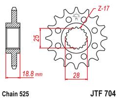 Звезда ведущая JTF704 16