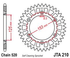 Звезда ведомая алюминиевая 48 зубов Beta RR 13-18 / Honda CR/CRF JT