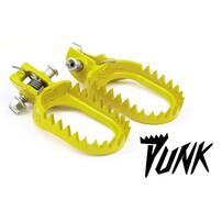 Подножки стальные желтые S3 Punk KTM 07-16 / Husaberg 11-16 / Husqvarna 14-16 / Beta -19 / Sherco / Gas Gas / Yamaha