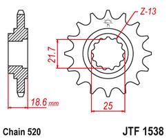 Звезда ведущая JTF1538 15