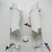 Защита перьев вилки белая KTM EXC/EXC-F 10-15 / Husaberg TE/FE 11-14 / Husqvarna TE/FE 14-15
