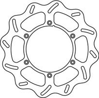 Диск тормозной передний Yamaha YZ/WR