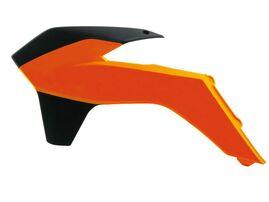 Боковины радиатора SX125-150 13-15 # SX250 13-16 # SXF250-450 13-15 # EXC-EXCF 14-16 оранжево-белые